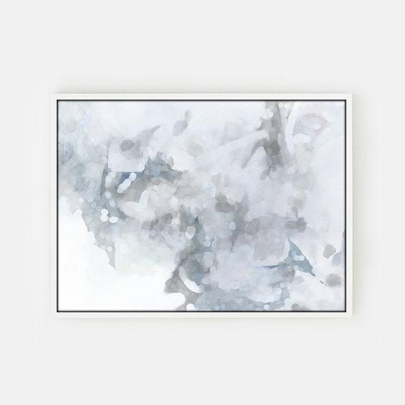 And White Abstract Unstretched Canvas Art With Regard To Gray Abstract Wall Art (View 7 of 20)