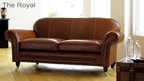 Aniline Leather Sofa – The Sofa Collection | British Made Leather In Aniline Leather Sofas (Image 3 of 10)