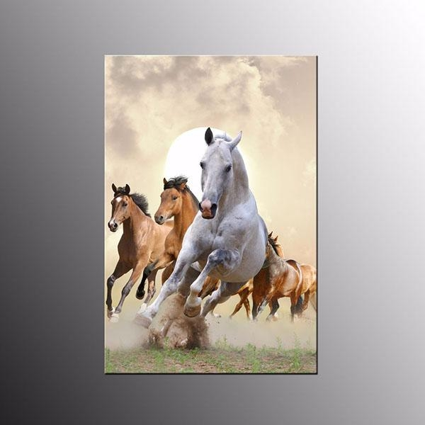 Animal Canvas Print Art For Wall Decor Horses Canvas Wall Art Throughout Horses Canvas Wall Art (Image 5 of 20)