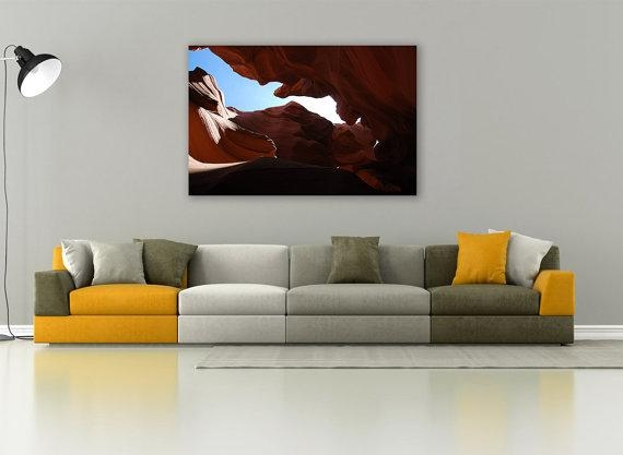 Antelope Canyon, Canyon Gorge, Canyon Photography, Canvas Print With Regard To Arizona Canvas Wall Art (Image 7 of 20)