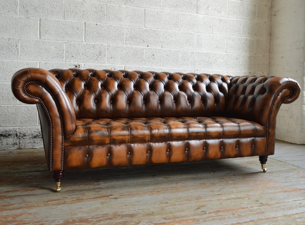 Antique Belmont Leather Chesterfield Sofa | Abode Sofas Within Vintage Chesterfield Sofas (Image 2 of 10)