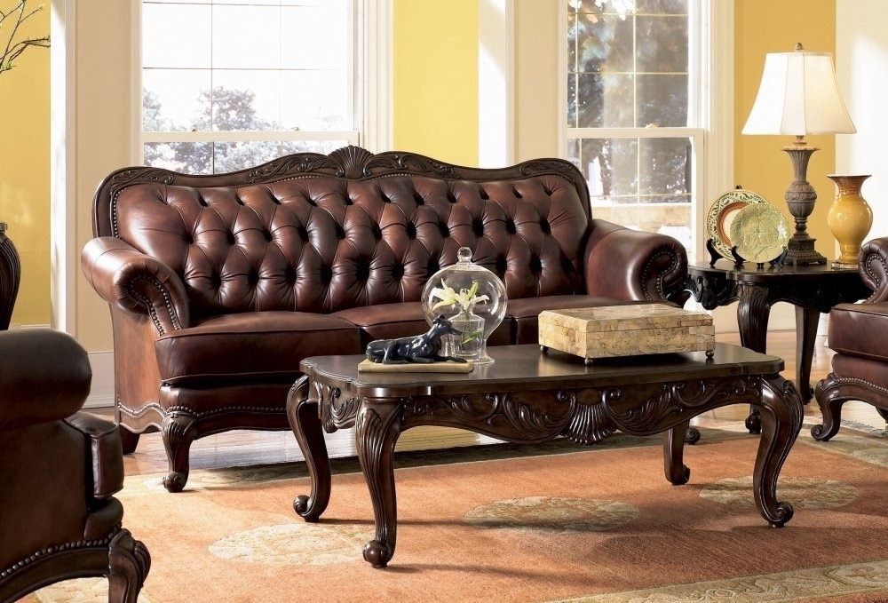Antique Victorian Sofa Set: Victorian Leather Sofa Within Victorian Leather Sofas (Image 4 of 10)