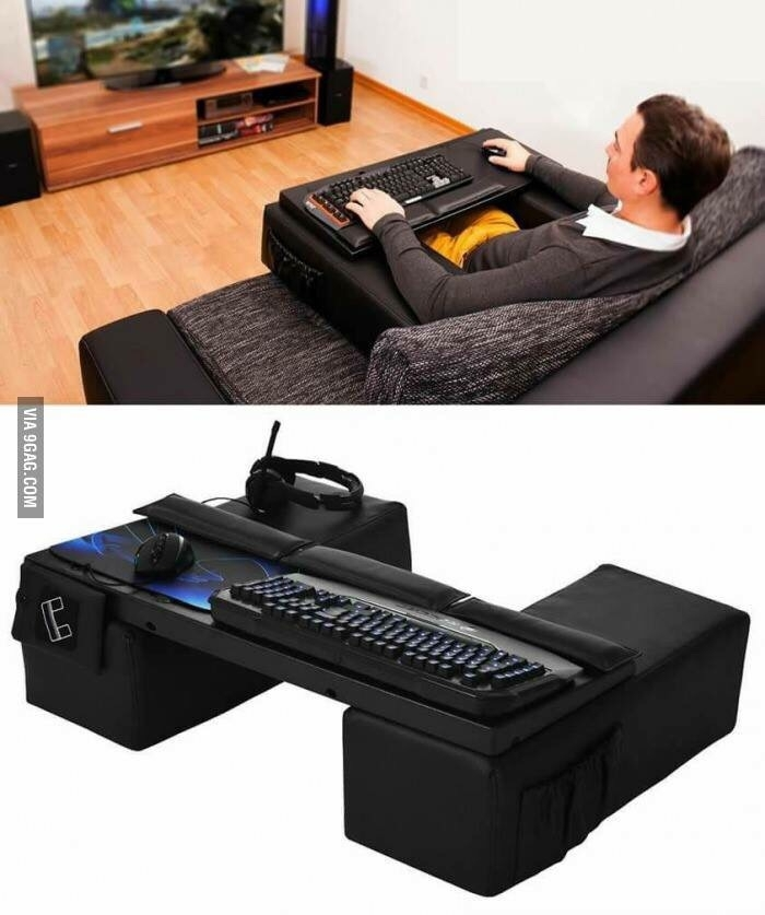 Anyone Game From Their Couch With A Keyboard And Mouse? How? | Neogaf In Gaming Sofa Chairs (Image 4 of 10)
