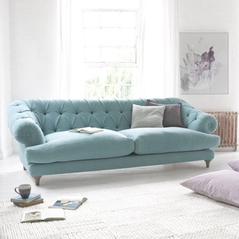 Aqua Blue Sofanice | Simple Elegance | Pinterest | Living Room Regarding Aqua Sofas (View 4 of 10)