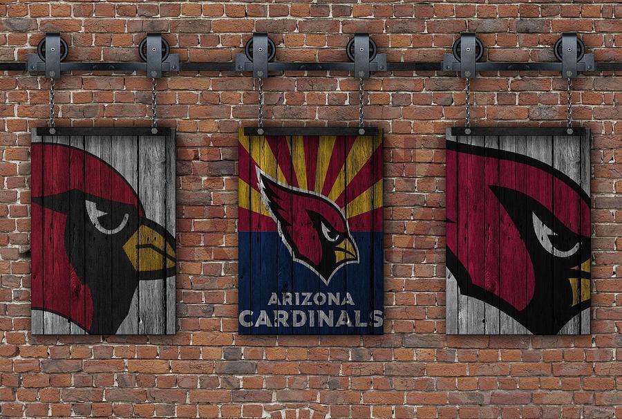Arizona Cardinals Brick Wall Photographjoe Hamilton Inside Arizona Canvas Wall Art (Image 9 of 20)