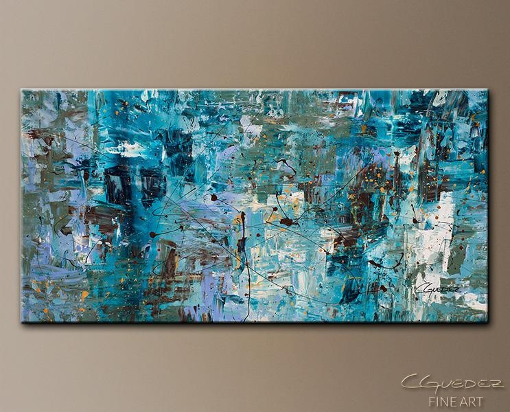 Art Abstract Wall Paintings.blue Ocean (Image 3 of 20)