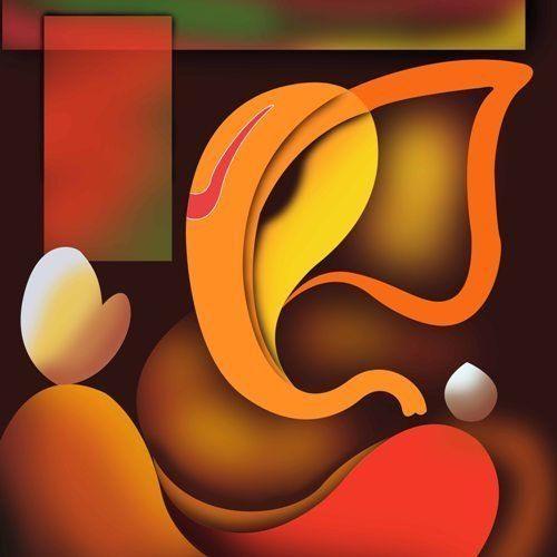 Art Factory Ganesha Canvas Painting | Ganesh | Pinterest | Ganesha Intended For Abstract Ganesha Wall Art (View 17 of 20)