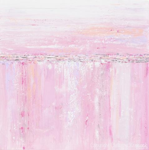 Art Prints Pink White Abstract Painting Soft Pink Grey Lavender Within Pink Abstract Wall Art (Image 6 of 20)