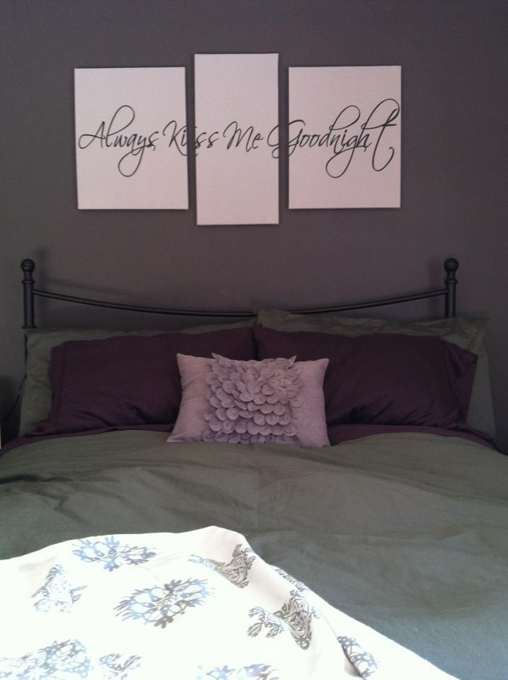 Art Project Time! Vinyl Wall Art + Canvas = Gorgeous! I Love My With Regard To Bedroom Canvas Wall Art (Image 4 of 20)