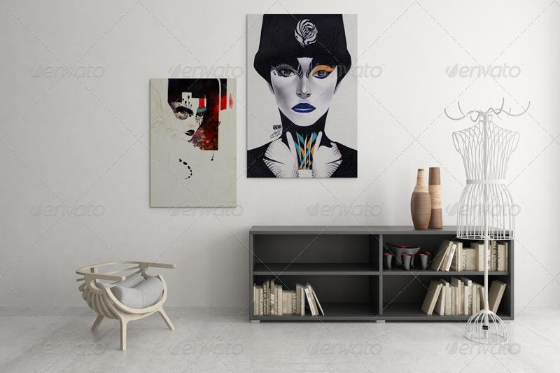 Art Wall Mockups Vol (Image 10 of 20)