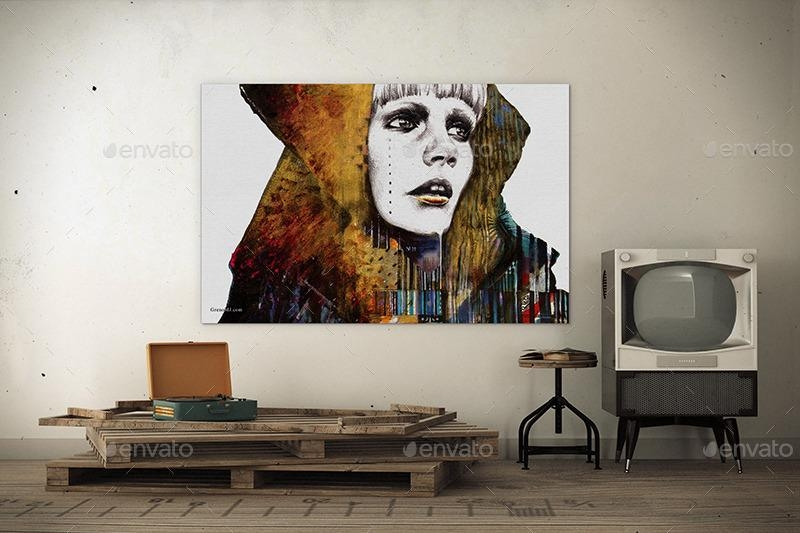 Art Wall Mockups Vol 6Wutip | Graphicriver Within Mockup Canvas Wall Art (Image 8 of 20)