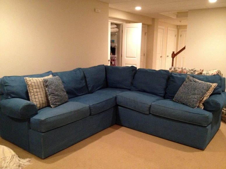 Artistic Denim Sectional Sofa Image – Interior Design Ideas In Made In North Carolina Sectional Sofas (View 2 of 10)