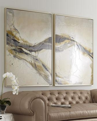 Ascent' Wall Art – Neiman Marcus Within Neutral Abstract Wall Art (Image 6 of 20)