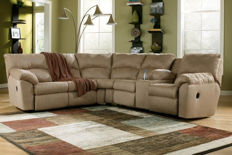 Ashley Amazon Reclining Sectional – Mocha | Sectionals | Raleigh Throughout Raleigh Sectional Sofas (Photo 10 of 10)