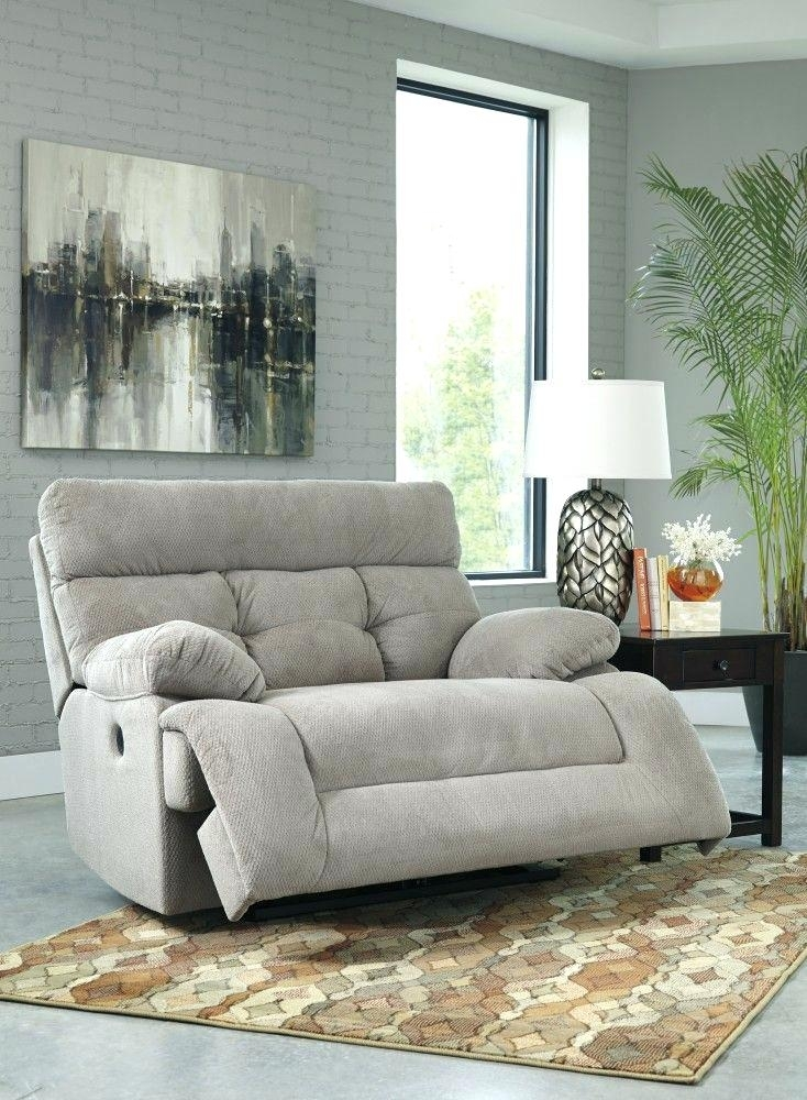 Ashley Furniture Power Reclining Sofa | Adrop Regarding Wide Sofa Chairs (Image 2 of 10)