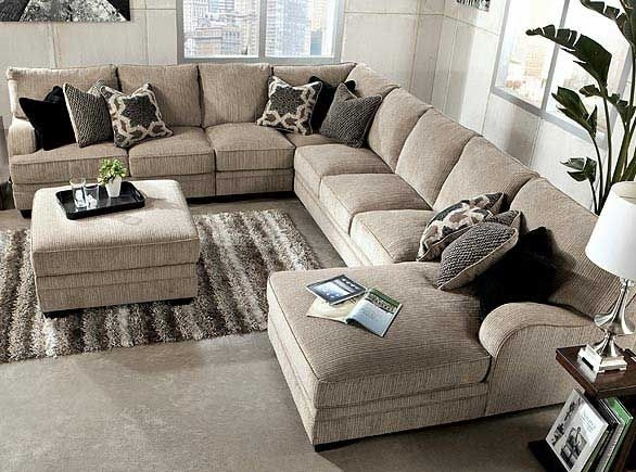 Ashley Furniture:cosmo  Marble 3 Piece, Raf Sectional Sofa Chaise Inside Large Sectional Sofas (Image 2 of 10)
