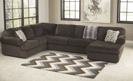 Ashley Jessa Place Chocolate Sectional With Chaise Appliances Within Clarksville Tn Sectional Sofas (View 3 of 10)