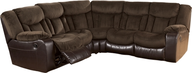 Ashley Tafton Java Dual Reclining Loveseat Sectional – With The Rich Regarding Homemakers Sectional Sofas (Image 4 of 10)