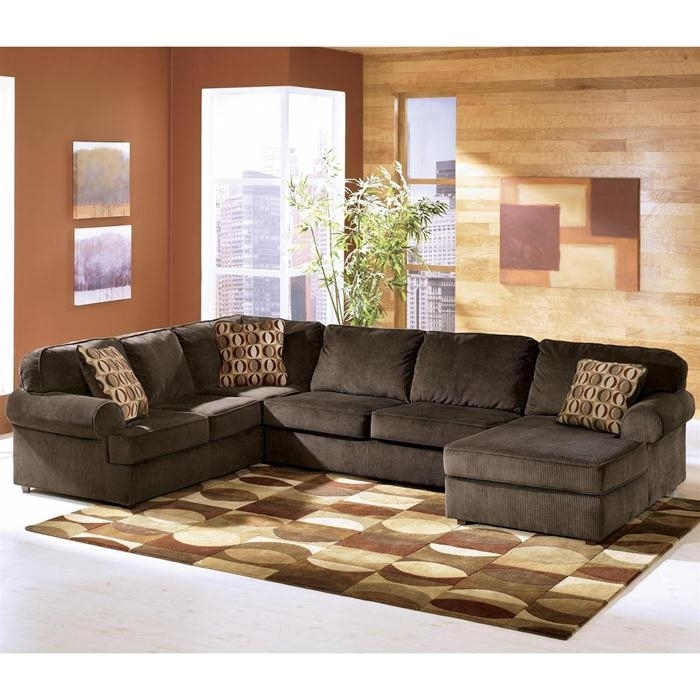 Ashley Vista 3 Piece Sectional In Chocolate | Nebraska Furniture In Nebraska Furniture Mart Sectional Sofas (View 8 of 10)