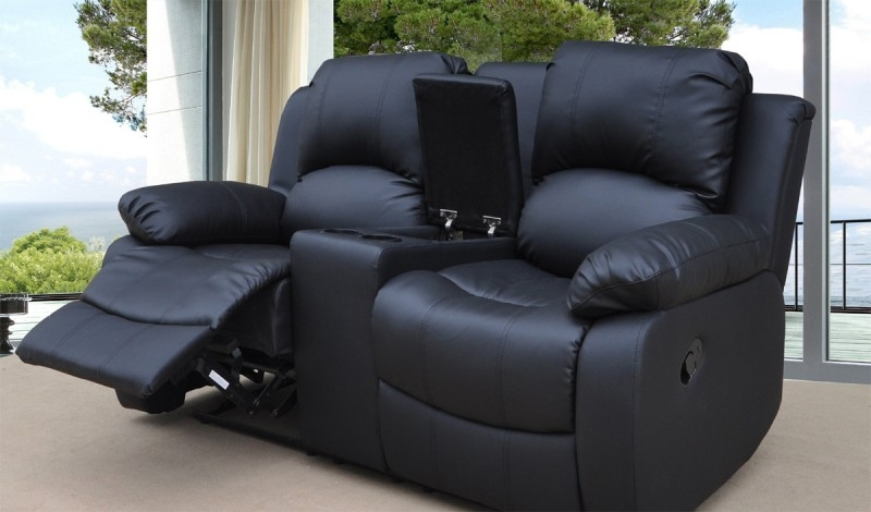 Astonishing Impressing Small 2 Seater Leather Recliner Sofa Aecagra With 2 Seat Recliner Sofas (Image 1 of 10)