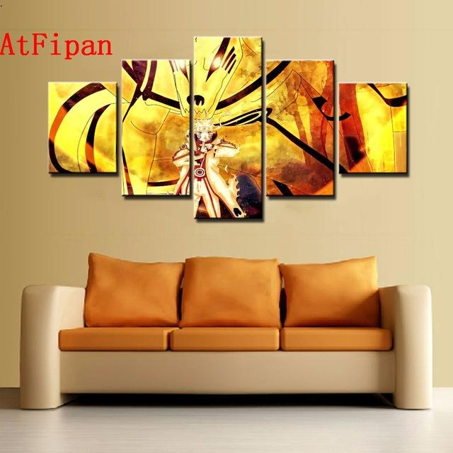Atfipan Modern Abstract Wall Artwork Poster Naruto Paintings On Intended For Abstract Wall Art Posters (Image 5 of 20)