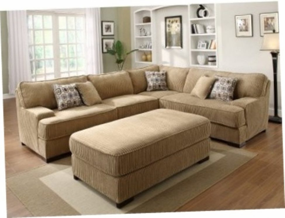Attractive Sectional Sofas Large Sofa With Ottoman Reloc Homes Within Couches With Large Ottoman (Image 1 of 10)