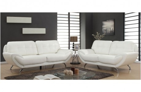 Attractive Sofa Bed White Leather Inspiration For Idea 16 For White Leather Sofas (Image 1 of 10)