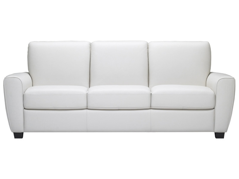 Attractive Sofa Bed White Leather Inspiration For Idea 16 With Regard To White Modern Sofas (Image 1 of 10)