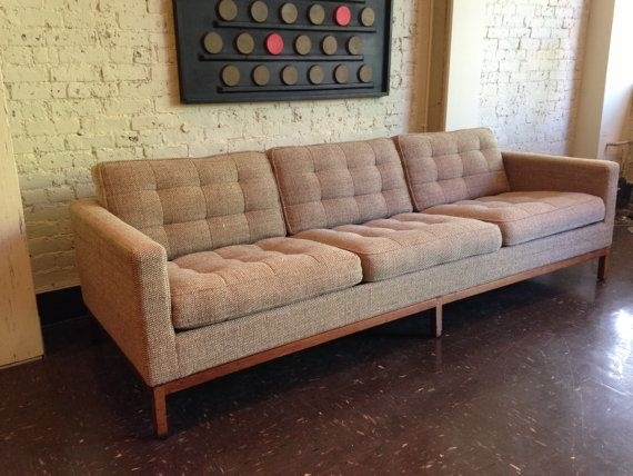 Authentic Mid Century Florence Knoll Sofamidcenturyville Within Florence Sofas And Loveseats (Image 2 of 10)