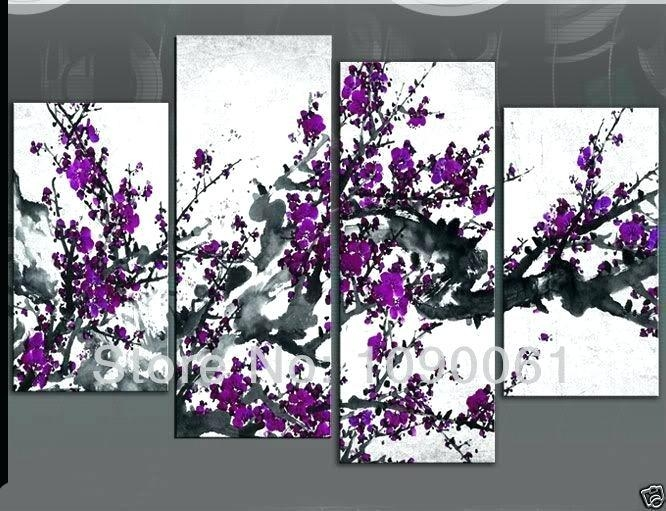 Awe Inspiring Purple And Grey Wall Art Plus Decor Affordable Intended For Purple And Grey Abstract Wall Art (Image 8 of 20)