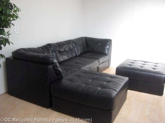 Awesome Black Leather Sectional With Ottoman Ideas – Liltigertoo Regarding Black Leather Sectionals With Ottoman (View 5 of 10)