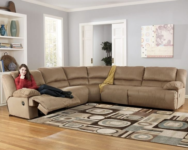 Awesome Brown Bobopedic Sectional Sofa Ashley Furniture Intended For Sectional Sofas At Ashley Furniture (Image 2 of 10)