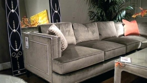 Awesome Grey Sectional Sofa With Nailhead Trim Purobrand Co With Regard To Sectional Sofas At Buffalo Ny (Image 2 of 10)