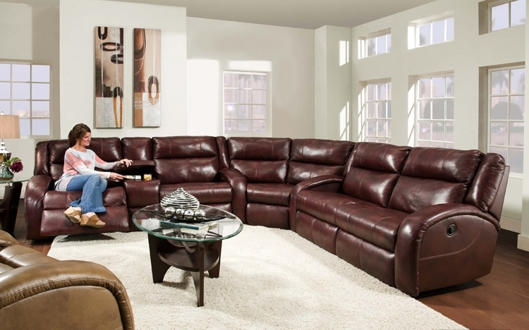 Awesome Leather Recliner Sectional Sofa American Made Merritt Lay With Leather Recliner Sectional Sofas (View 7 of 10)