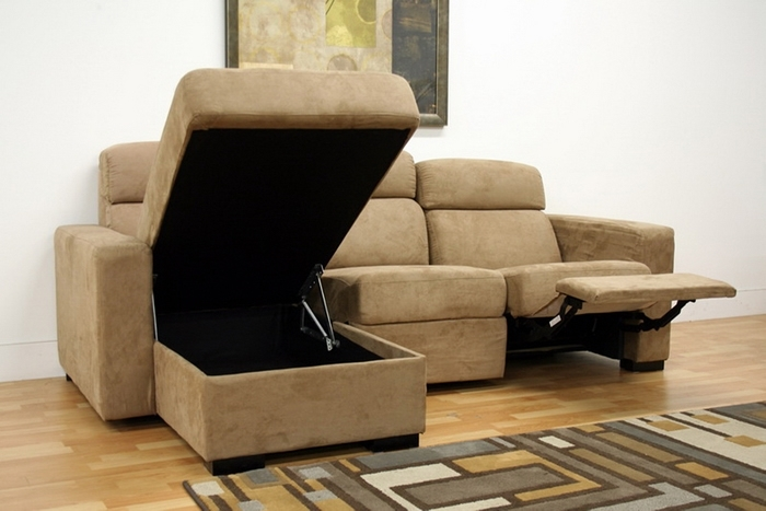 Awesome Reclining Sectional Sofas For Small Spaces Excellent With Inside Sectional Sofas With Recliners For Small Spaces (Image 1 of 10)