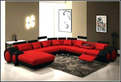 Awesome Red Leather Sectional Couch Red Leather Sofa Recliner Red Intended For Red Leather Sectional Sofas With Recliners (Image 2 of 10)