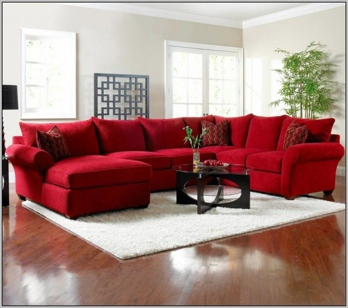 Awesome Red Sectional Sofa , Good Red Sectional Sofa 12 In Modern In Red Sectional Sofas (Image 2 of 10)