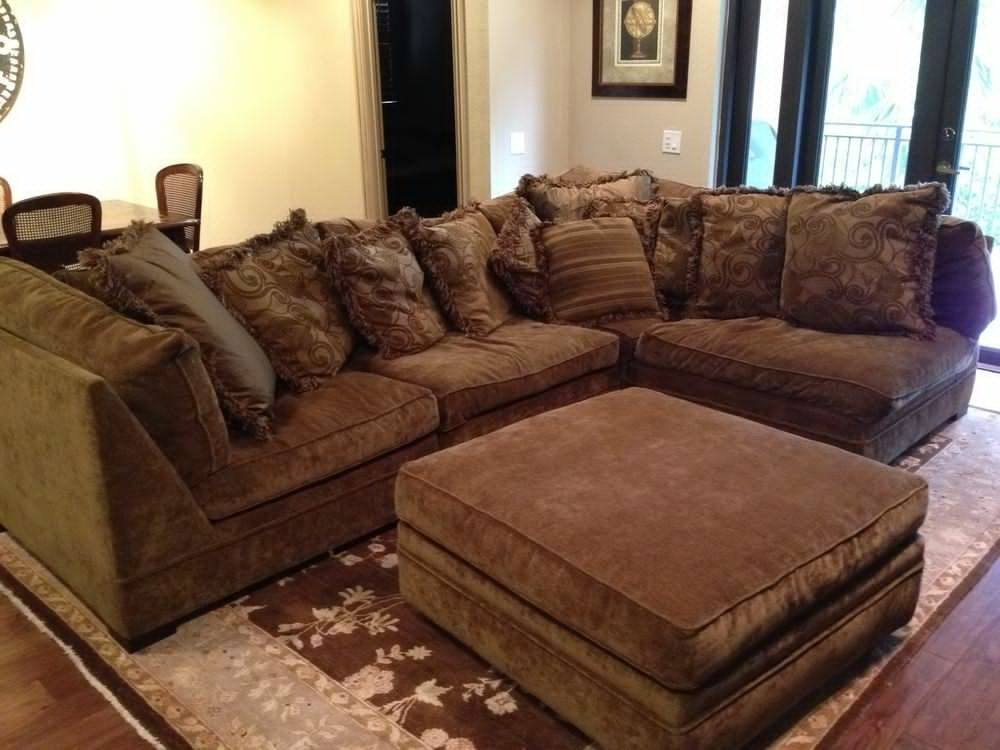 Awesome Sectional Sofa Design Down Blend Wrapped Goose Within Filled Intended For Goose Down Sectional Sofas (Image 2 of 10)