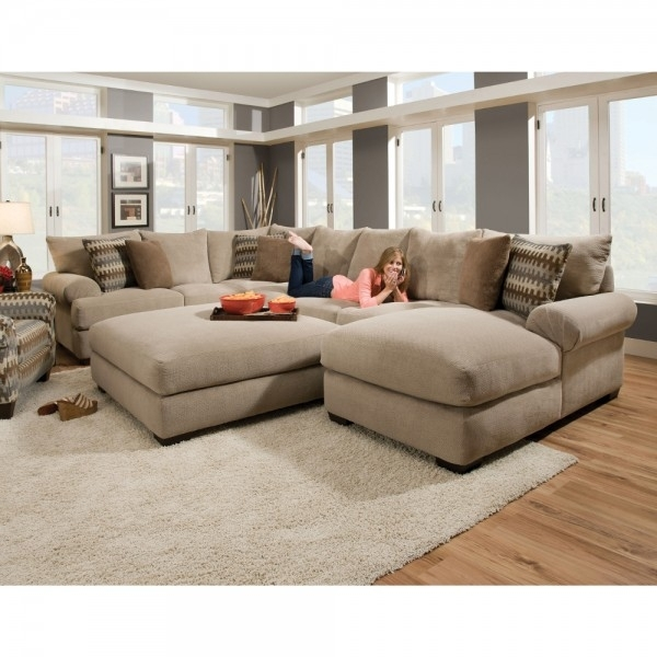 Bacar Living Room – Raf Chaise, Armless Sofa, Laf Sofa With Corner In Sectional Sofas With Chaise And Ottoman (View 3 of 10)