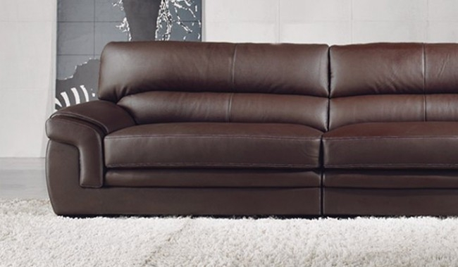 Bachelli Leather Sofa – 4 Seater – Delux Deco Furniture In 4 Seat Leather Sofas (Image 2 of 10)