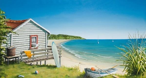 Bachthe Beach Canvas Printgraham Young For Sale – New In New Zealand Canvas Wall Art (Image 10 of 20)