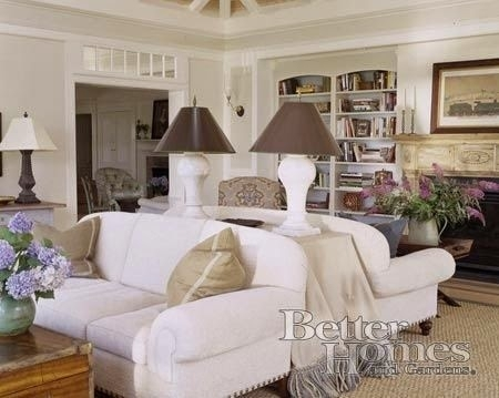 Back To Back Couches With Console Table For Lamps | Layout In Sofas With Back Consoles (Image 2 of 10)