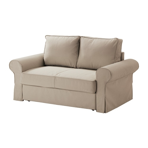 Backabro Two Seat Sofa Bed Ramna Beige – Ikea Inside Ikea Two Seater Sofas (Image 2 of 10)