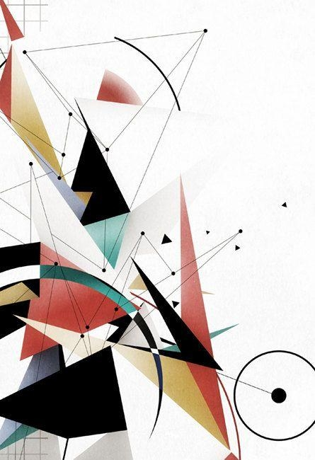 Bauhaus Inspired, A4, Geometric Art, Modern Abstract Art In Abstract Graphic Wall Art (Image 7 of 20)