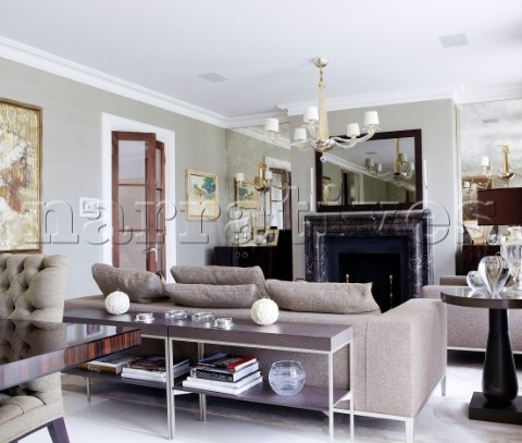 Bd117 05: Console Table And Sofa With Marble Fireplace – Narratives For Sofas With Consoles (Image 2 of 10)
