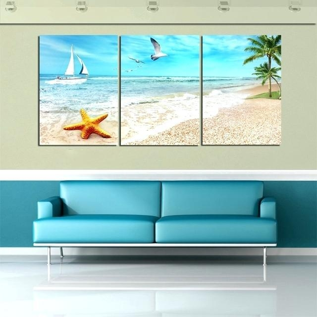 Beach Canvas Wall Art – Elkar (Image 8 of 20)