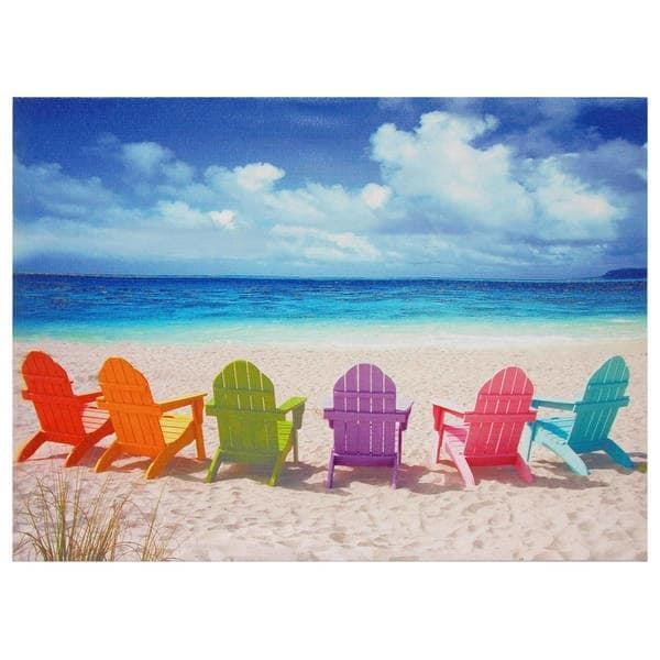 Beach Chairs Canvas Wall Art – Free Shipping On Orders Over $45 Pertaining To Beach Canvas Wall Art (Image 7 of 20)