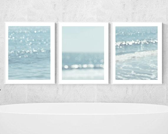 Beach Prints Nautical Wall Decor Ocean Photography Abstract Regarding Abstract Nautical Wall Art (Image 5 of 20)