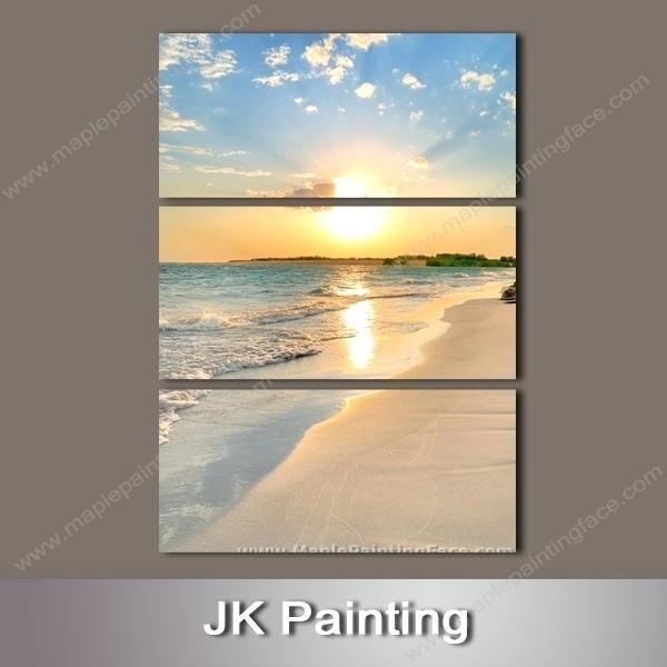 Beach Wall Art Canvas – Boyintransit In Canvas Wall Art Beach Scenes (Image 9 of 20)