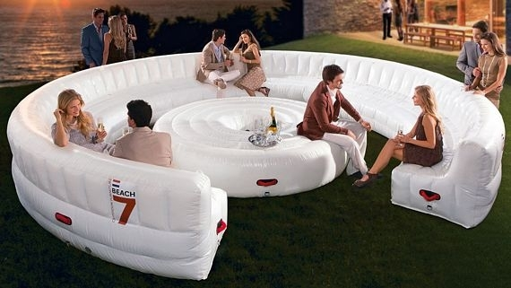 Beach7 Airlounge Xl Is A Party Sized Inflatable Couch Inside Inflatable Sofas And Chairs (Image 3 of 10)